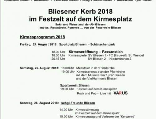 Kirmesmontag in Bliesen mit dem Musikverein